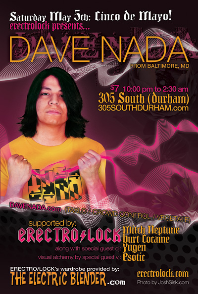 Flyer for Dave Nada dj appearance