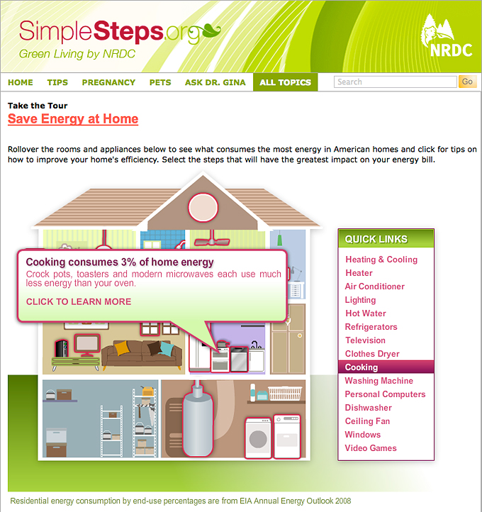 "NRDC's ""Energy Efficiency at Home"" interactive Flash tool"