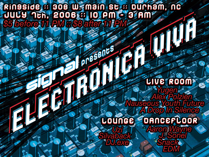Flyers designs for Signal Festival's Electronica Viva