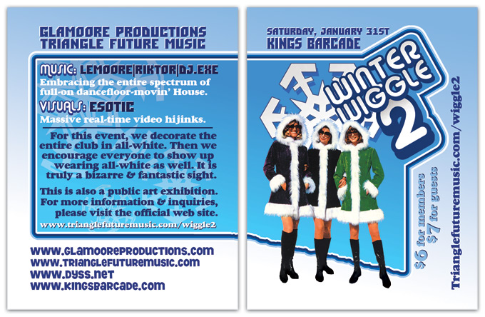 Flyer for Winter Wiggle 2 dance party